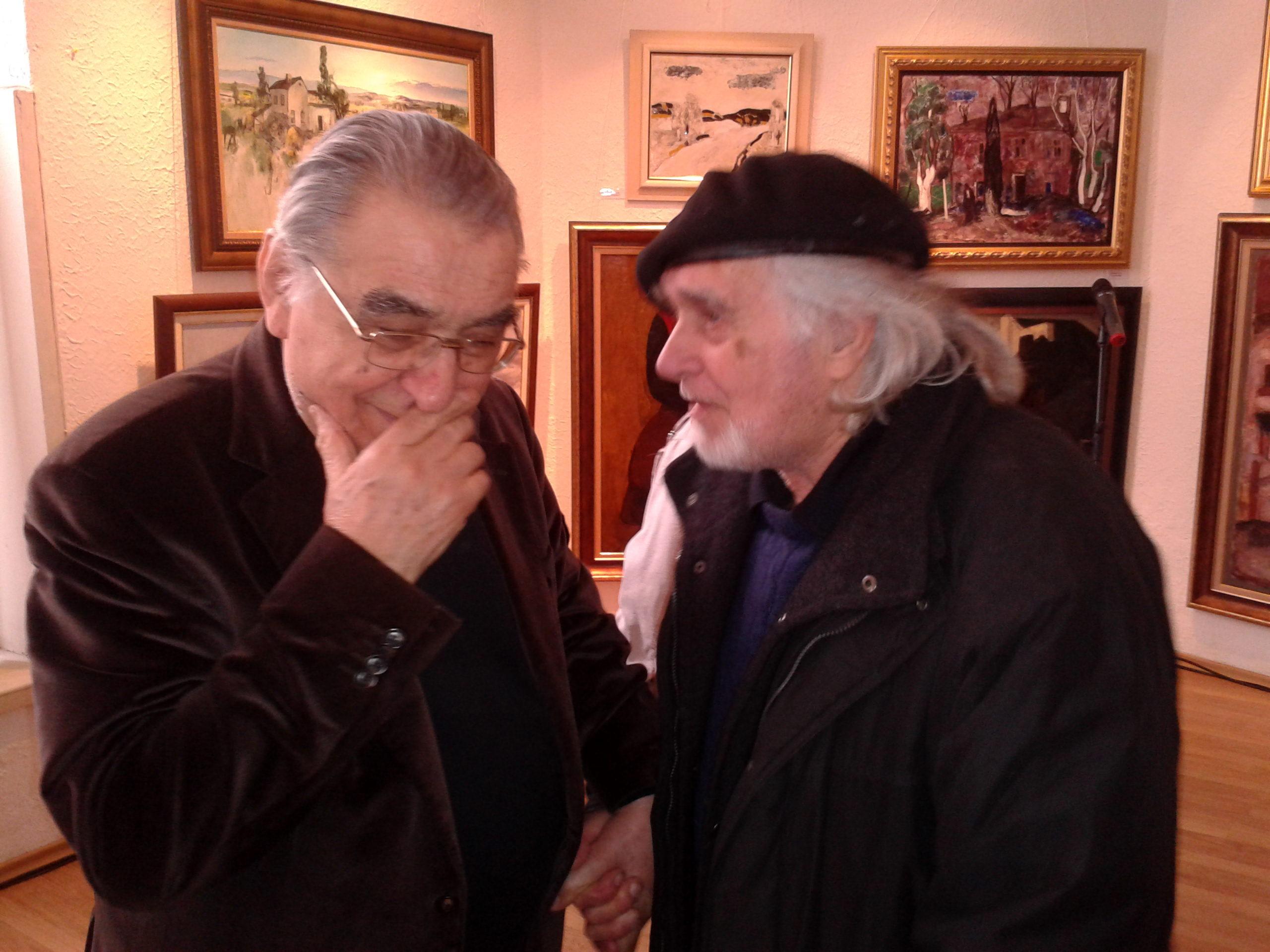 Художниците Светлин Русев и Чавдар Пашев
