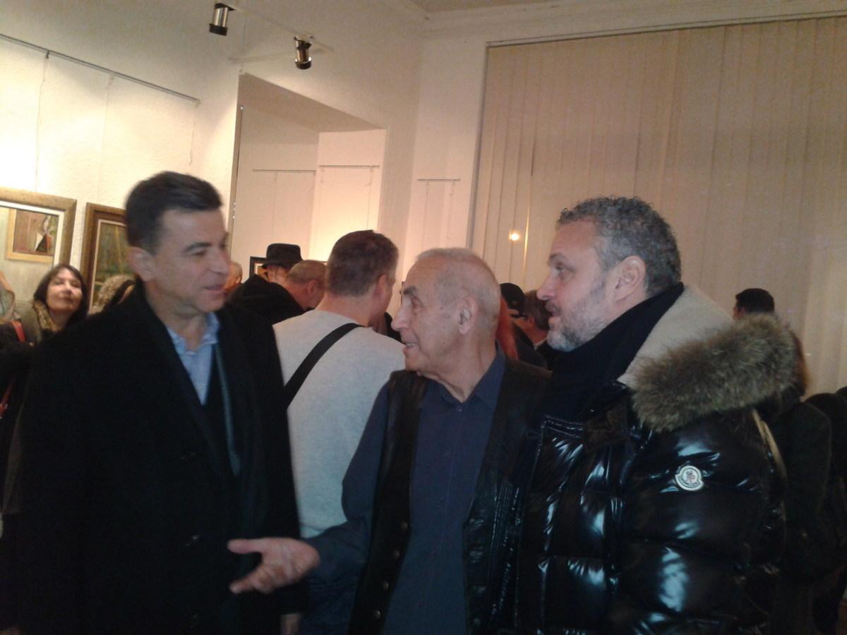 Радул Шишков с колекционерите Димитър Инджов и Стефан Малецов